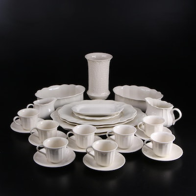 """Lenox """"Casual Elegance"""" with Other White Ceramic Tableware, Vintage"""