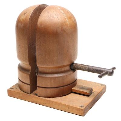 Wooden Adjustable Hat Form