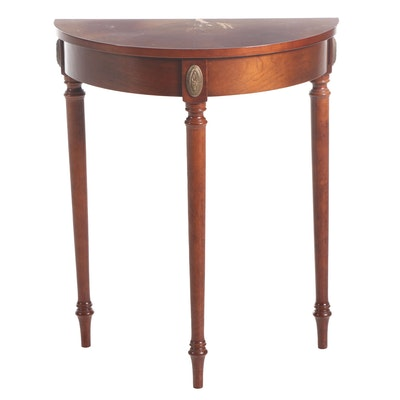 Bombay Company Federal Style Mahogany-Stained Demilune Console Table