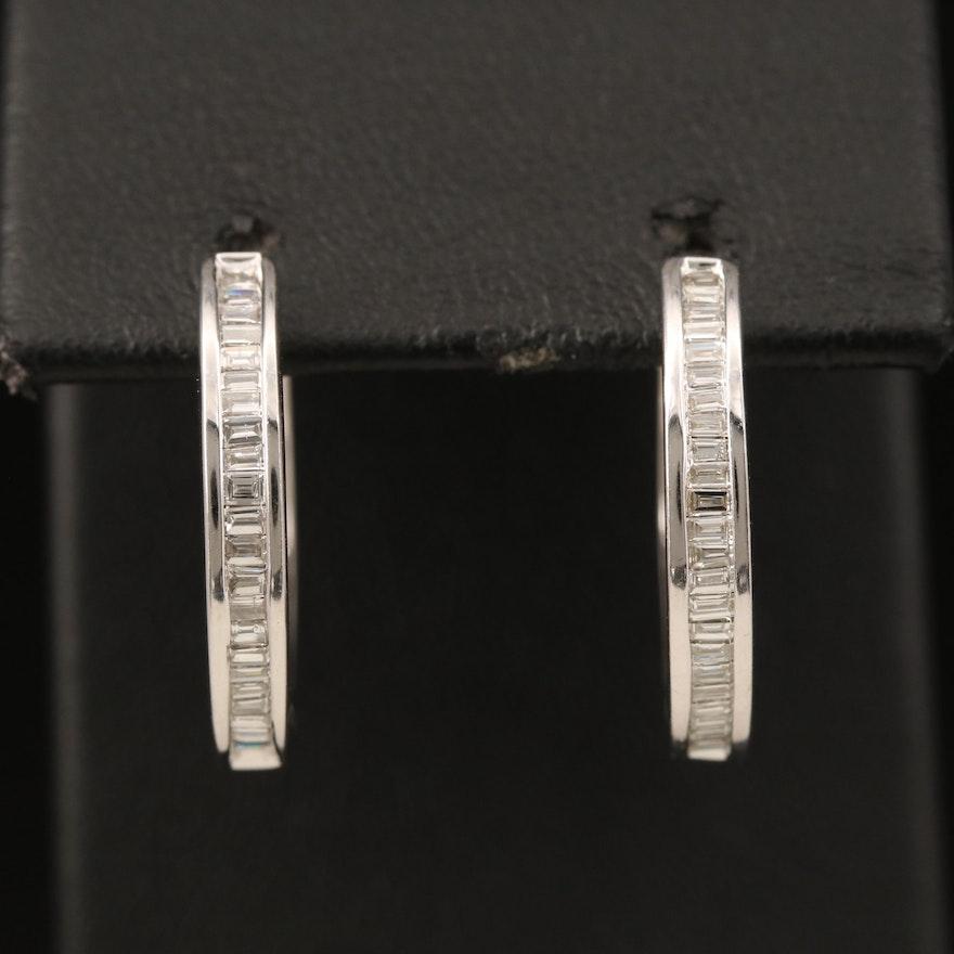 EFFY 14K Diamond Hoop Earrings