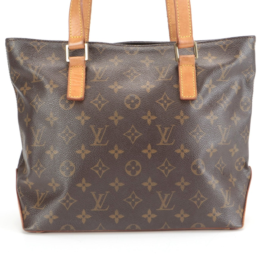 Louis Vuitton Cabas Piano Shoulder Tote in Monogram Canvas and Vachetta Leather