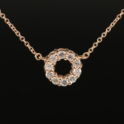 EFFY 14K Rose Gold Diamond Necklace