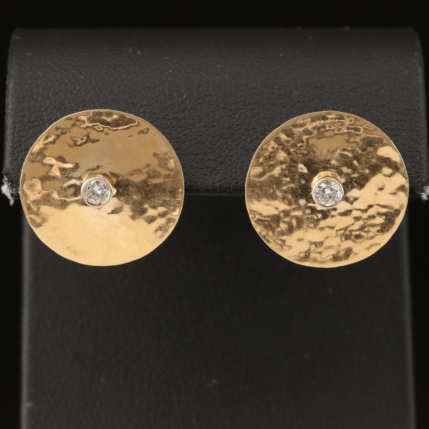 M & J Savitt 14K 0.24 CTW Diamond Earrings