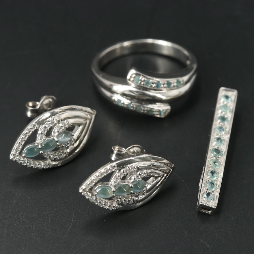 Sterling Silver Jewelry Featuring Chrysoberyl and Alexandrite