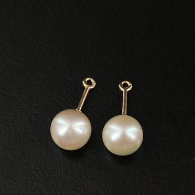 14K Pearl Earring Enhancers