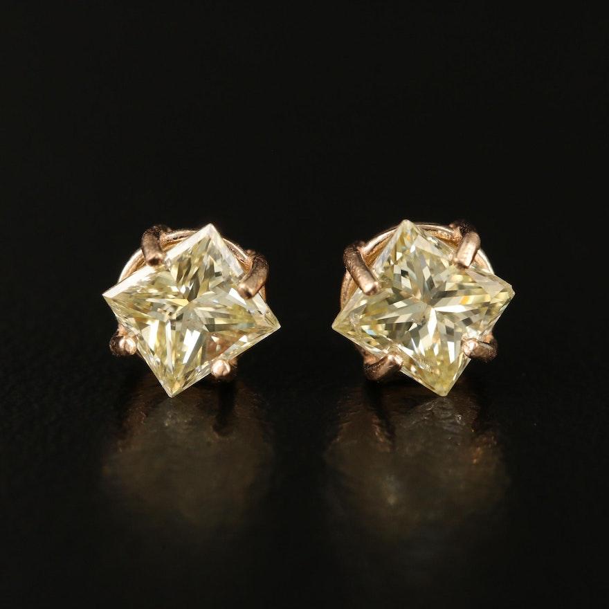 14K 1.30 CTW Diamond Stud Earrings