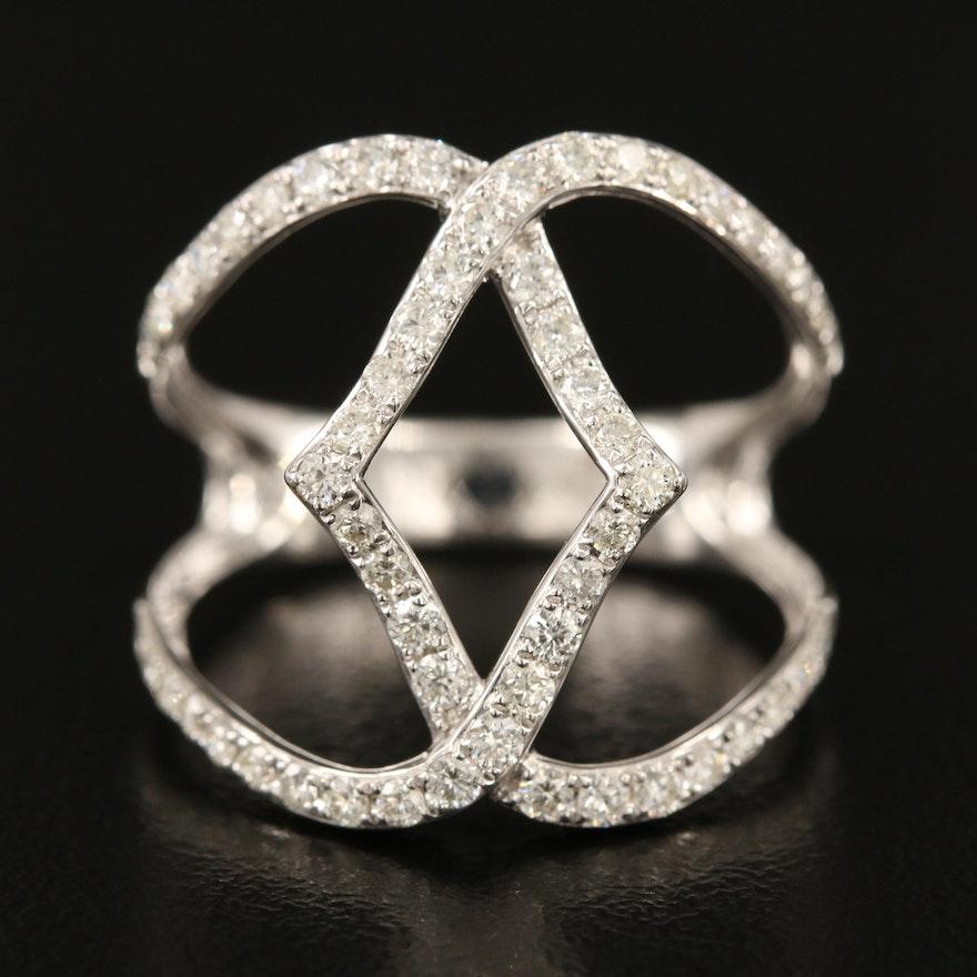 EFFY 14K Diamond Openwork Ring