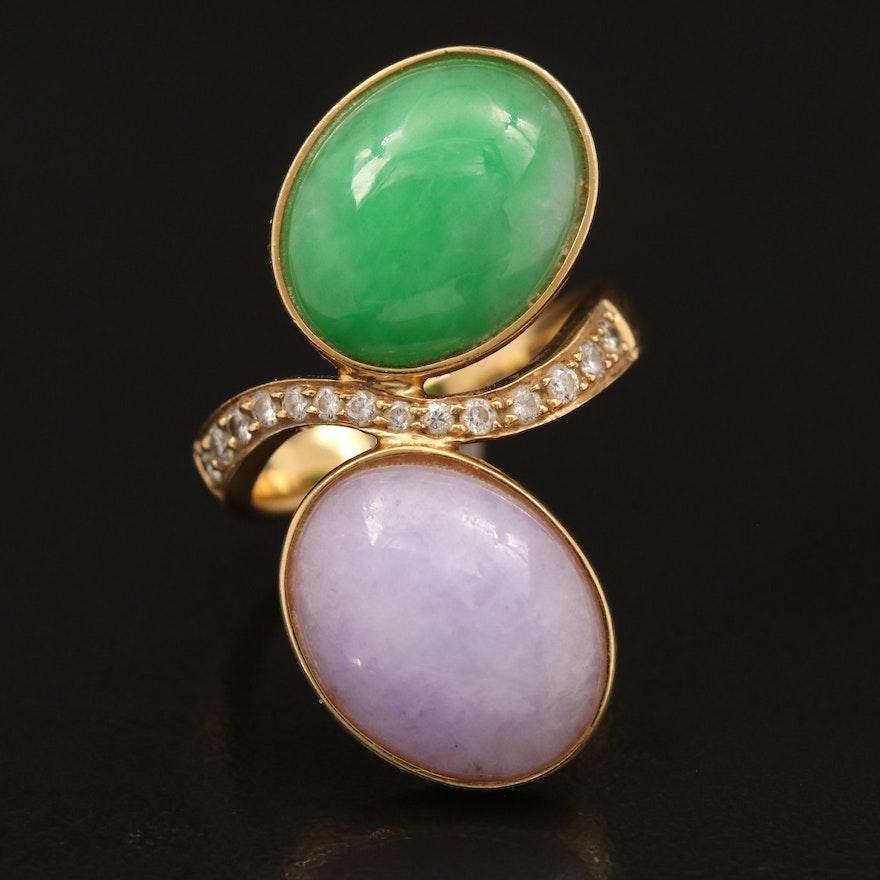 18K Jadeite and Diamond Ring