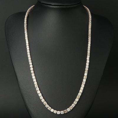 14K 22.70 CTW Diamond Graduated Rivière Necklace
