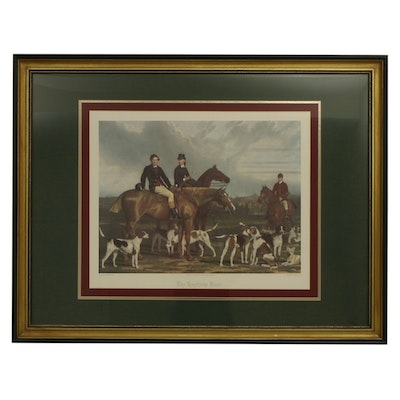 """Offset Lithograph After Stephen Pearce """"The Heythorp Hunt"""""""
