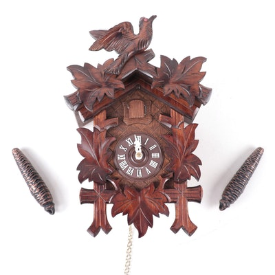 German Walnut Cuckoo Clock