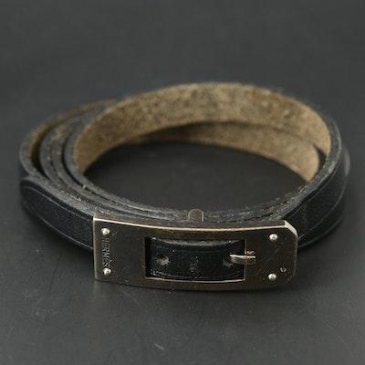 Hermès Kelly Quadruple Wrap Leather Bracelet
