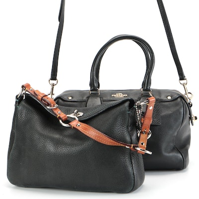 Coach Bennett Convertible Satchel and Chelsea Grained Leather Shoulder Bag