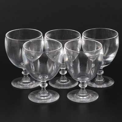 Steuben Art Glass Water Goblets, Mid to Late 20th Century