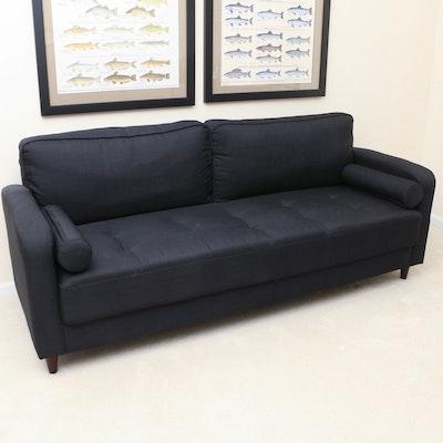 IKEA Tufted Blue-Black Two-Seat Sofa