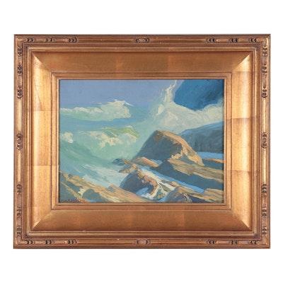 Morris A.K. Feldsberg Landscape Oil Painting