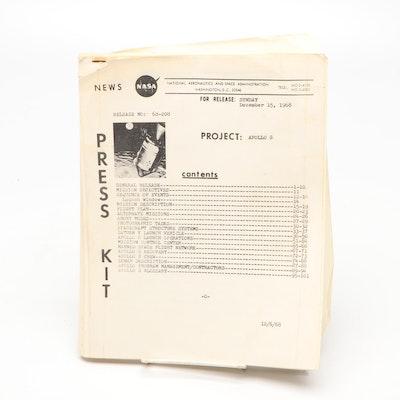 """NASA """"Project: Apollo 8"""" Press Kit, 1968"""