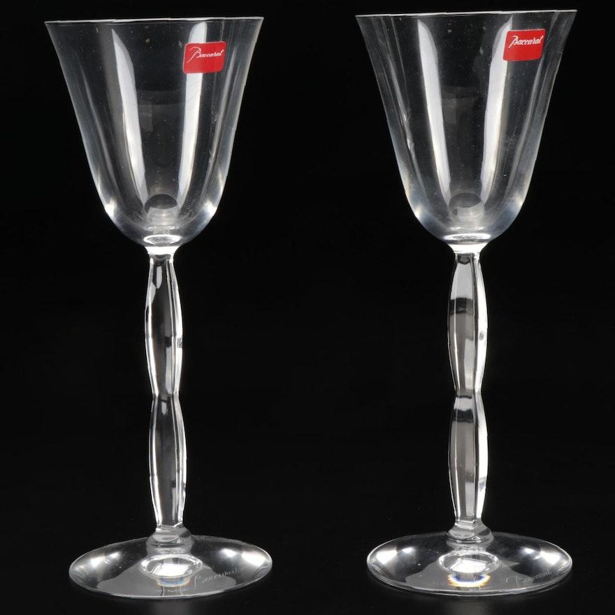 "Baccarat ""Onde"" Crystal Wine Glasses, 2001–2013"