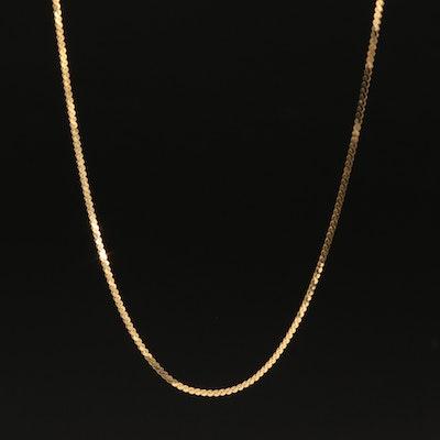 Italian 14K Serpentine Chain Necklace