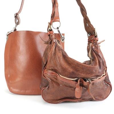 M0851 and Giorgio Brato Leather Hobo Bags
