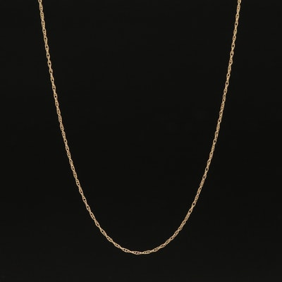 10K Singapore Chain Link Necklace