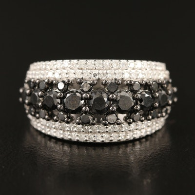 Sterling 2.00 CTW Diamond Tapered Band