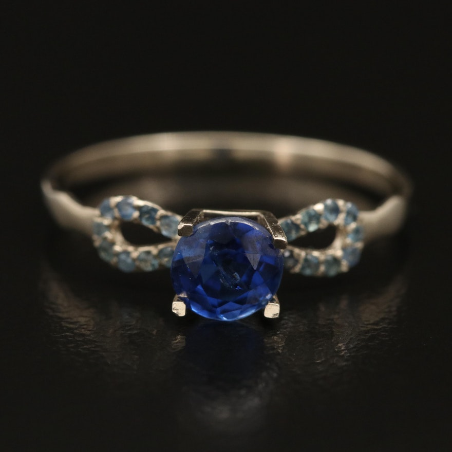 14K Sapphire Ring with GIA Report