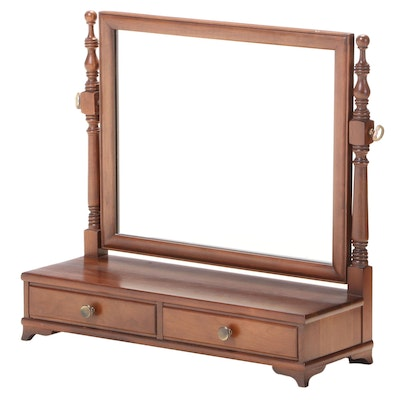 Willet Federal Style Cherrywood Shaving Mirror, Mid to Late 20th Century