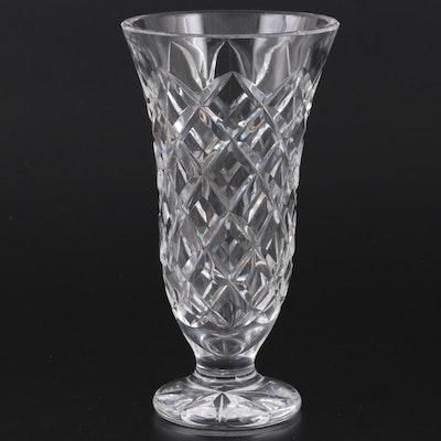 "Waterford ""Kinsale"" Footed Crystal Vase"