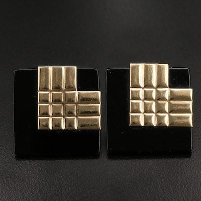 Peter Brams Designs 14K Black Onyx Earrings