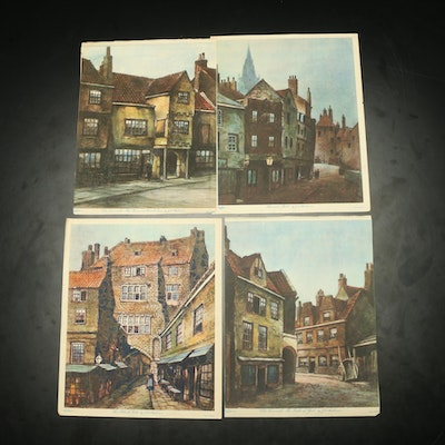 Northern European Architecture Prints After J.A. Stephenson