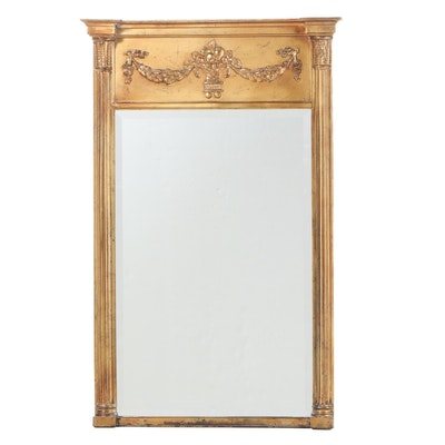 Carolina Mirror Company Classical Style Gilt Composite Mirror, Late 20th Century