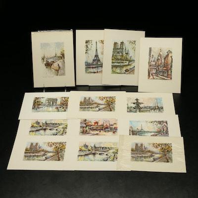 Reproduction Prints of Paris After Marius Girard