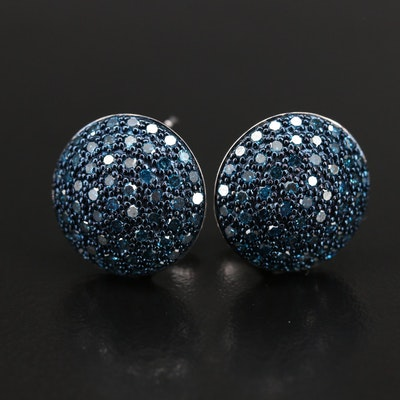Sterling Pavè 1.80 CTW Diamond Earrings