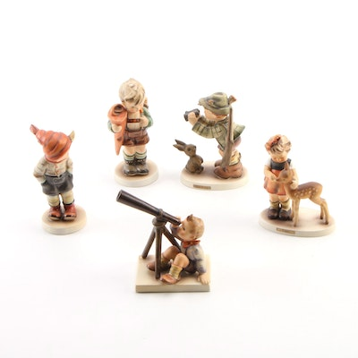 """Goebel """"Good Hunting"""" and Other Porcelain Hummel Figurines, Mid to Late 20th C."""