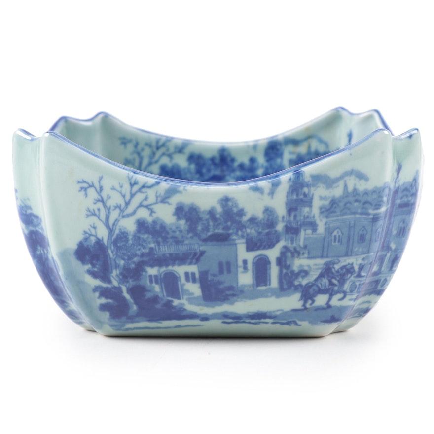 Victorian Ware Ironstone Transferware Bowl, Late 20th Century