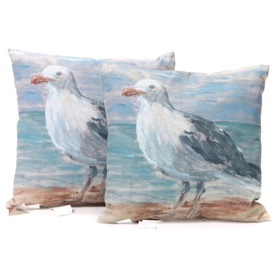 Pair of Pottery Barn Water-Repellant Spun Polyester Outdoor Pillows