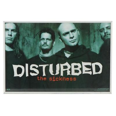 Disturbed Signed Framed Poster Print