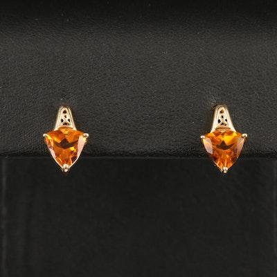 14K Citrine Earrings