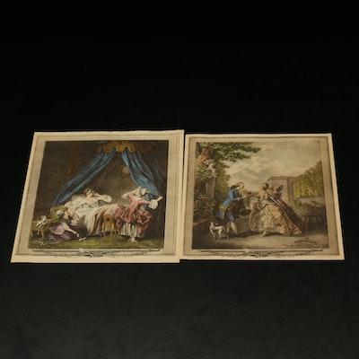 "Prints After Johann Heinrich Eberts ""La Promenade du Soir"""