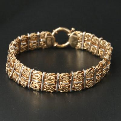 Sterling Byzantine Chain Bracelet