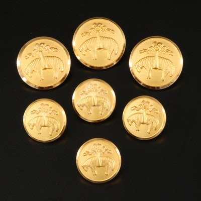 Brooks Brothers Golden Fleece Button Set by Waterbury Button Co. with Box