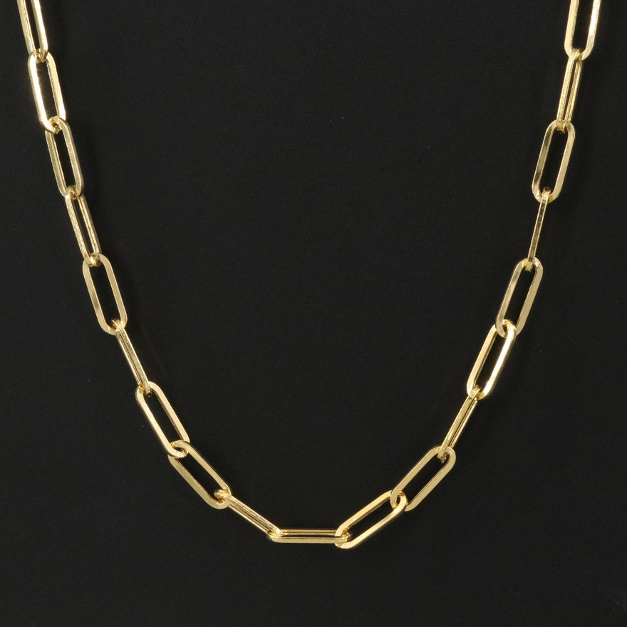 EFFY 14K Paperclip Chain Necklace