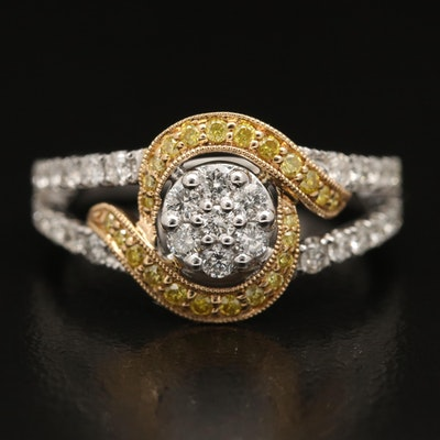 EFFY Yellow Diamond and Diamond Ring