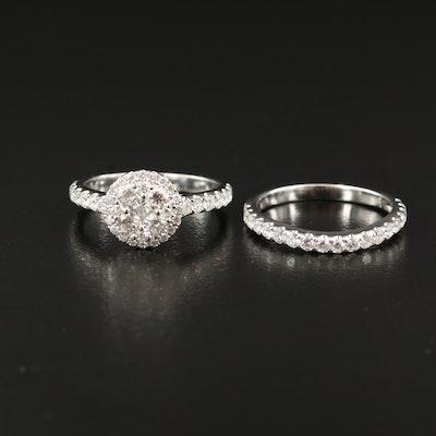 14K Gold 1.67 CTW Diamond Ring Set