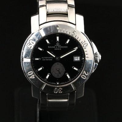 "Baume & Mercier Automatic ""Capeland"" Stainless Steel Wristwatch"