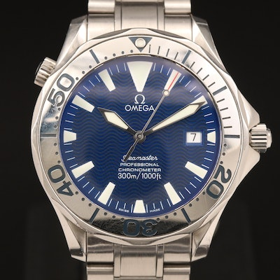 """Omega """"Seamaster 300M"""" Chronometer Stainless Steel Automatic Wristwatch"""