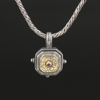 Konstantino Sterling Ruby Pendant Necklace with 18K Accents