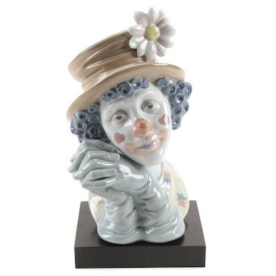 "Lladró ""Meloncholy"" Porcelain Bust, Late 20th Century"