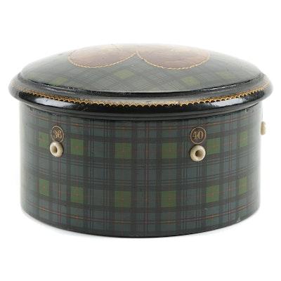 Scottish Mauchline Tartan Ware Princess Louise and John Campbell Spool Box